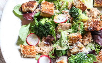 Tuna & Broccoli Salad with Honey Vinaigrette